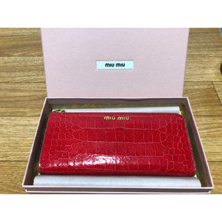 online retailer c7edf d9836 MIUMIU ミュウミュウ長財布