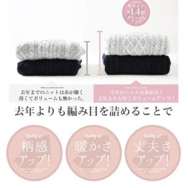 ケーブルニット 厚手 グレー メンズ【新品未開封】 メンズのトップス(ニット/セーター)の商品写真