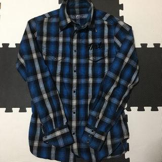 ティーエムティー(TMT)のTMT チェックシャツ ブルー(シャツ)