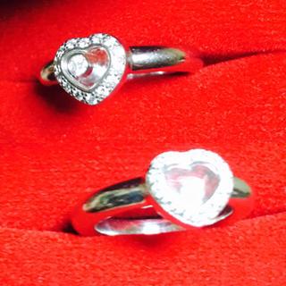 ショパール(Chopard)の直営店にてお磨き済み 極美品 フルダイヤ ショパール ハッピーダイヤ 指輪(リング(指輪))