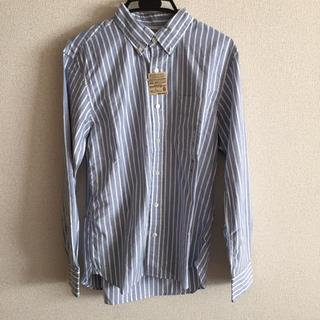 ムジルシリョウヒン(MUJI (無印良品))の無印良品 ストライプシャツ L 新品未使用品(シャツ)