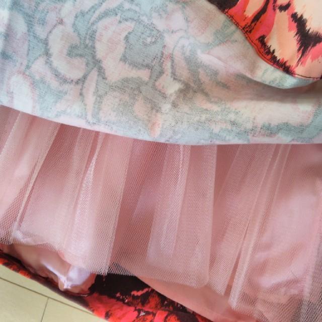 FOREVER 21(フォーエバートゥエンティーワン)の花柄 ふんわりスカート ピンク レディースのスカート(ミニスカート)の商品写真
