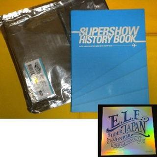 スーパージュニア(SUPER JUNIOR)のSUPER JUNIOR ステッカー付き スーパーショーヒストリーブック 韓国(ミュージシャン)