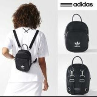 アディダス(adidas)の大人気!adidas レザー調 ミニリュック  ブラック(リュック/バックパック)
