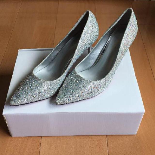 ESPERANZA(エスペランサ)のパンプス 7センチヒール キラキラ ストーン 結婚式 レディースの靴/シューズ(ハイヒール/パンプス)の商品写真