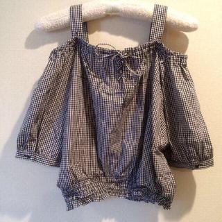 ミスティウーマン(mysty woman)の♡ギンガムオフショルTOPS♡(Tシャツ(半袖/袖なし))