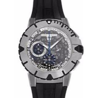 ハリーウィンストン(HARRY WINSTON)のオーシャン ダイバー クロノグラフ 411/MCA44ZC.W 249万(腕時計(アナログ))