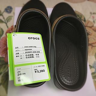 クロックス(crocs)のヒール7㌢   冬用サンダル(サンダル)