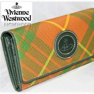 ヴィヴィアンウエストウッド(Vivienne Westwood)の新品【ヴィヴィアンウエストウッド】二つ折り タータンチェック柄長財布オーブレザー(財布)