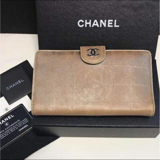 シャネル(CHANEL)の正規品 シャネル ニュートラベルライン レザー 長財布 箱付き(財布)