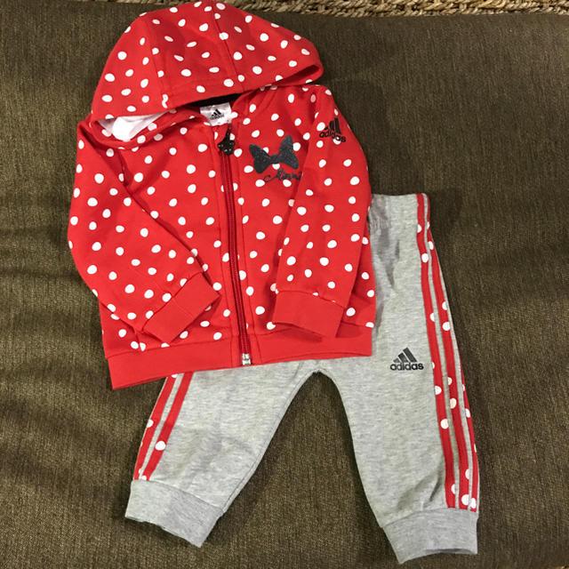 adidas(アディダス)の[定価¥6.980]adidas×Disnyセットアップ サイズ90 キッズ/ベビー/マタニティのキッズ服 女の子用(90cm~)(ジャケット/上着)の商品写真