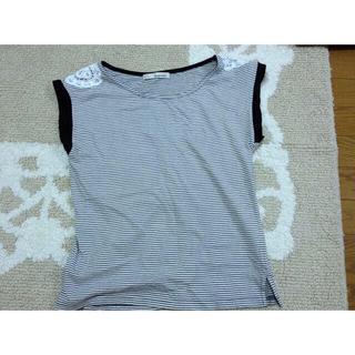 ミスティウーマン(mysty woman)のミスティウーマンボーダーTシャツ(Tシャツ(半袖/袖なし))