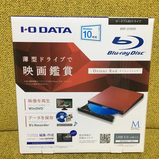 アイオーデータ(IODATA)のアイオーデータ  ポータブルBDドライブ BRP-UT6SR 超美品(PC周辺機器)