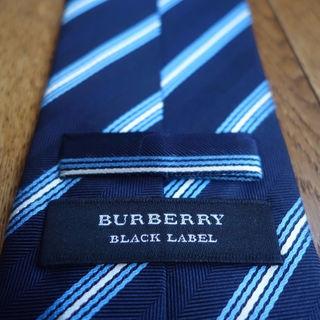バーバリーブラックレーベル(BURBERRY BLACK LABEL)の定価2万 バーバリー ブラックレーベル レジメンタル シルクネクタイ(ネクタイ)