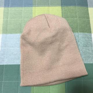 レプシィム(LEPSIM)のベージュニット帽(ニット帽/ビーニー)