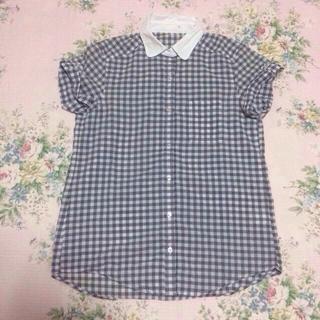 ジーユー(GU)の♡ギンガムチェックシャツ♡(シャツ/ブラウス(半袖/袖なし))