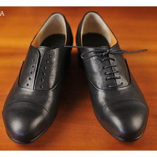 ショセ(chausser)のchausser(ショセ)レザー2wayストレートチップレースアップシューズ(ローファー/革靴)