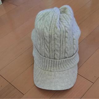 コンポジションファイブ(COMPOSITION FIVE)のCOMPOSITION  帽子  フリーサイズ  ベージュ(ニット帽/ビーニー)
