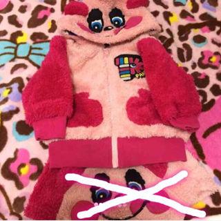 ラブレボリューション(LOVE REVOLUTION)のラブレボ  パンディちゃん  ふわふわ  パーカー  90cm(その他)