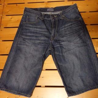 シマムラ(しまむら)のジーンズ デニム 半ズボン 和柄 刺繍(ショートパンツ)