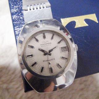 テクノス(TECHNOS)のテクノスの腕時計 メンズ ホワイト 自動巻き(腕時計)