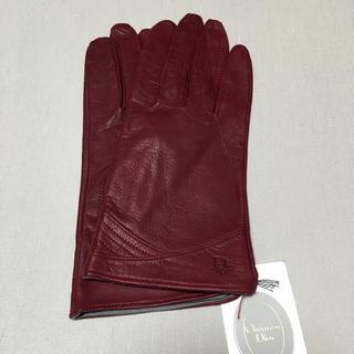 クリスチャンディオール(Christian Dior)の【新品タグ付き CD】オシャレ革手袋(手袋)