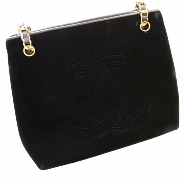 fdb53d83ed54 CHANEL(シャネル)の正規品 ヴィンテージ シャネル ベロア チェーン ショルダーバッグ レディースのバッグ