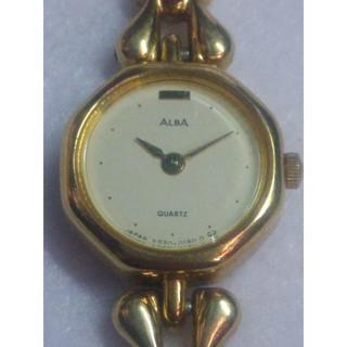 アルバ(ALBA)の腕時計 ALBA レディース クォーツ 中古 白小(腕時計)
