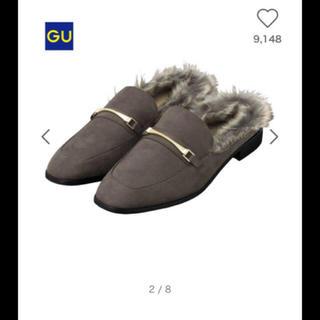 ジーユー(GU)の新品GUフェイクファースリッパ(ハイヒール/パンプス)