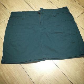 ローリーズファーム(LOWRYS FARM)のローリーズファーム 《SALE》処分 SALE グリーン コクーンスカート (ミニスカート)