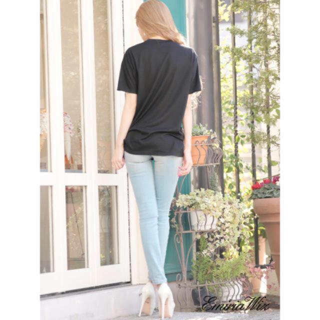 EmiriaWiz(エミリアウィズ)の再販なし☆エミリアウィズ ロゴTシャツ ブラック レディースのトップス(Tシャツ(半袖/袖なし))の商品写真