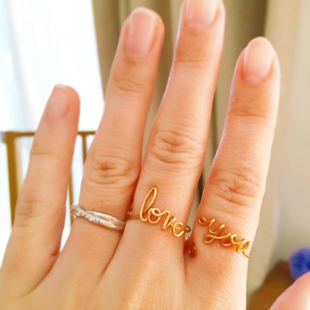 love you 二点セット リング レディースのアクセサリー(リング(指輪))の商品写真