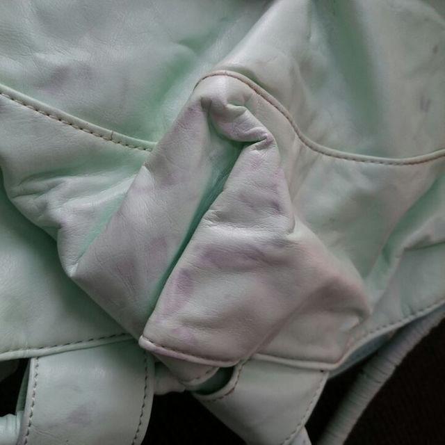 MIZELVAパステルグリーンバック レディースのバッグ(トートバッグ)の商品写真