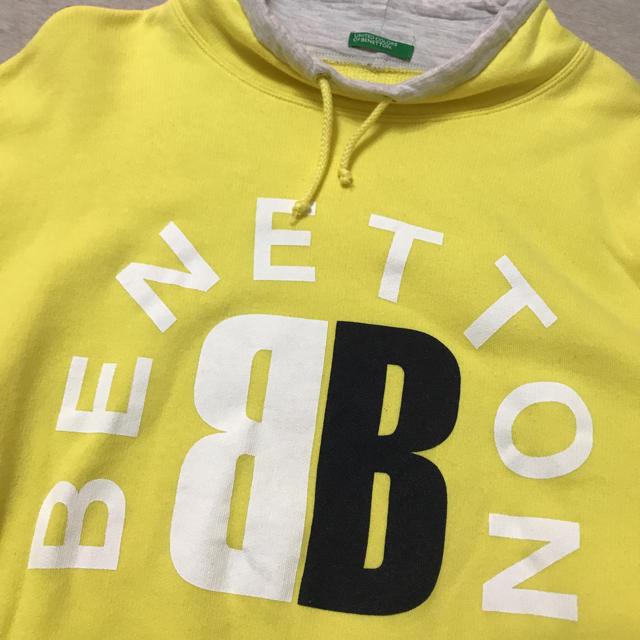 BENETTON(ベネトン)のレア  イタリア製 BNNETTON vintage トレーナー イエロー レディースのトップス(トレーナー/スウェット)の商品写真