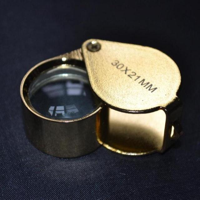 ジュエリー 鑑定 拡大鏡 ルーペ 30倍 ゴールド ケース付 金 新品 レディースのファッション小物(その他)の商品写真