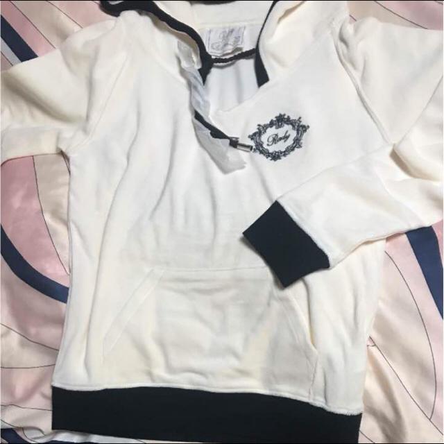 Rady(レディー)のRady♡ショートセットアップ♡ホワイト×ブラック レディースのルームウェア/パジャマ(ルームウェア)の商品写真