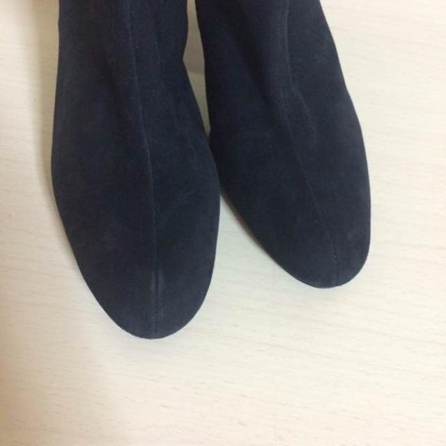 約80%引き 未使用品・2way ブラックスエードブーツ ロングブーツ レディースの靴/シューズ(ブーツ)の商品写真