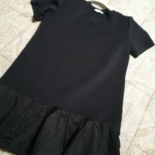 モンクレール(MONCLER)のmoncler ブラックドレス ワンピース❤(ひざ丈ワンピース)