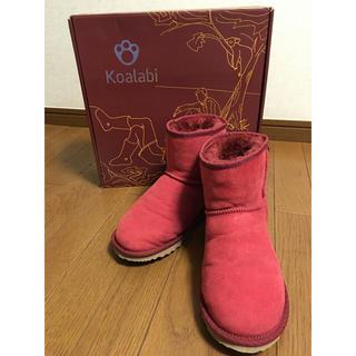 コアラビ(Koalabi)のオーストラリアKoalabi コアラビ ムートンブーツ 赤(ブーツ)