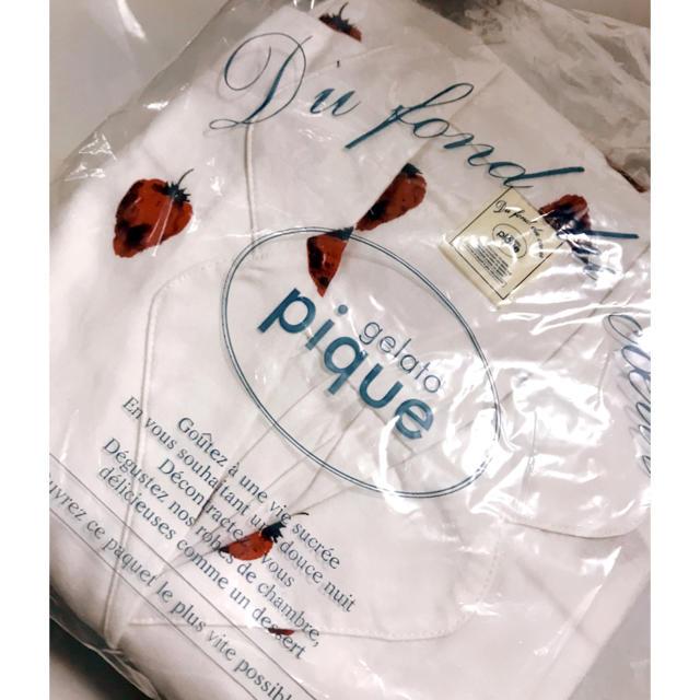 gelato pique(ジェラートピケ)のmi様専用値下げ!新品白ジェラートピケいちご柄 ジェラピケ レディースのルームウェア/パジャマ(ルームウェア)の商品写真