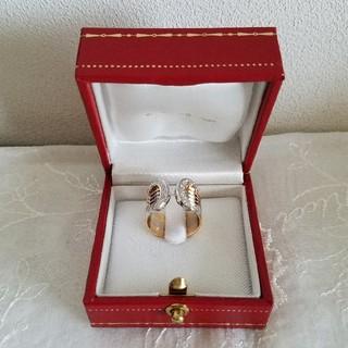 カルティエ(Cartier)のカルティエ K18 2C ダイヤトリニティリング💎(リング(指輪))
