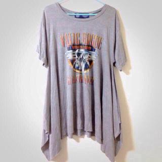 アゲインスト(AGAINST)のJELLY掲載☆Tシャツワンピ!新品!(Tシャツ(半袖/袖なし))