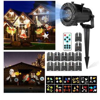 クリスマスプロジェクターライト CAMTOA LED投影ランプ ハロウィン