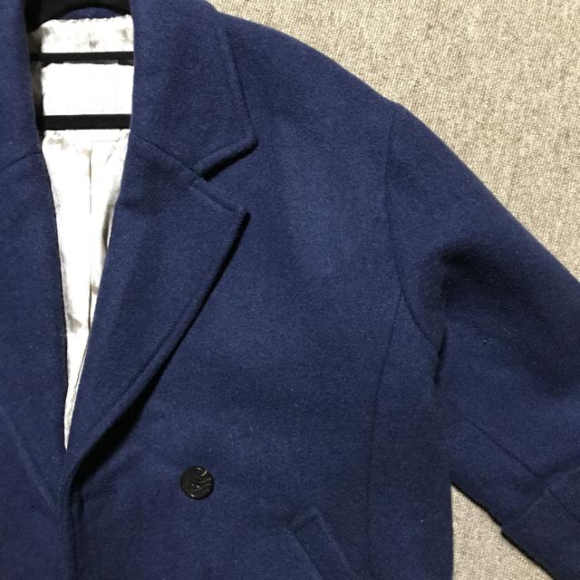 ロングコート ブルー フリーサイズ レディースのジャケット/アウター(ロングコート)の商品写真