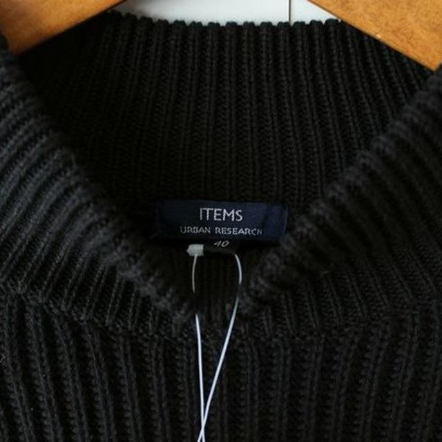 URBAN RESEARCH(アーバンリサーチ)の新品アーバンリサーチ モックネック ニット 黒 40 メンズ  メンズのトップス(ニット/セーター)の商品写真