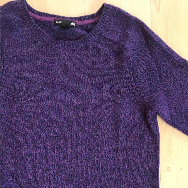 H&M(エイチアンドエム)のH&M メンズS プルオーバーニット メンズのトップス(ニット/セーター)の商品写真