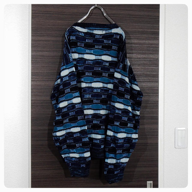 80s Protege ブルー ニット ■原宿 コムデギャルソンなどお好きな方に メンズのトップス(ニット/セーター)の商品写真