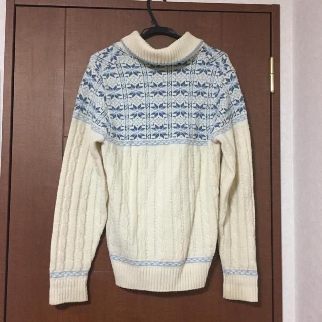 白ニット メンズのトップス(ニット/セーター)の商品写真