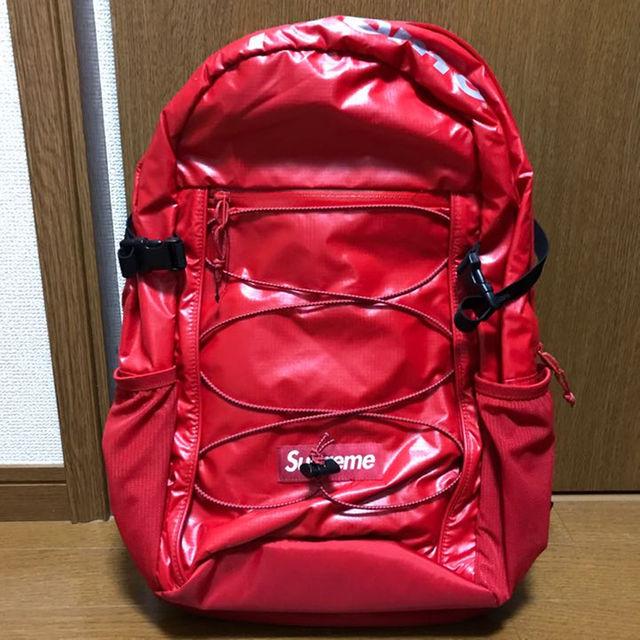 Supreme(シュプリーム)の新品未使用 17fw シュプリーム リュック Backpack 赤 メンズのバッグ(バッグパック/リュック)の商品写真