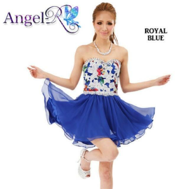 Andy(アンディ)の5000均一❤️angelR❤️花柄フレアドレス  ブルー レディースのフォーマル/ドレス(ナイトドレス)の商品写真